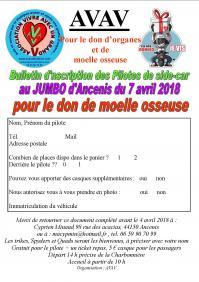 Bulletin inscription sides cariste 2018